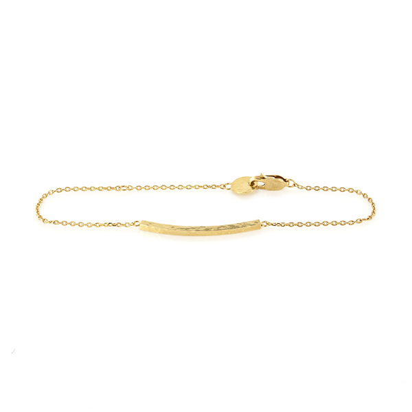 EC One 'Beat' Gold Bar Chain Bracelet