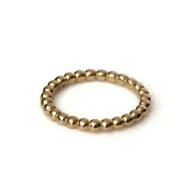 Wide Gold Ball Ring