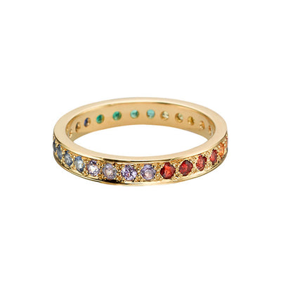 "Wide ""Kaleidoscope""  Eternity Ring"