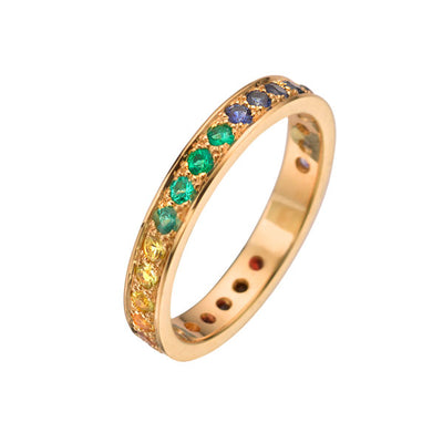 """Kaleidoscope""  Eternity Ring"