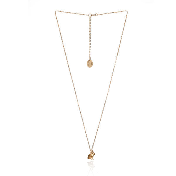 Sitting Bunny Gold Necklace