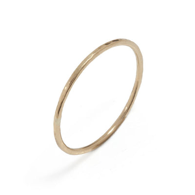 Skinny Yellow Gold Beat Ring