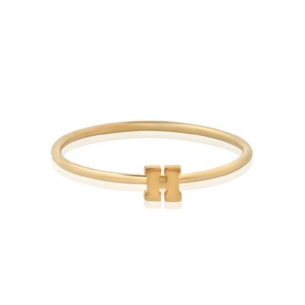 "Letter ""H"" Gold Stacking Ring"