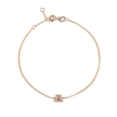 "EC One Mini Letter ""A"" recycled Gold and Diamond Bracelet"