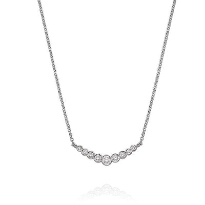 "EC One EC One ""Dainty"" White Recycled Gold Bar Diamond necklace"