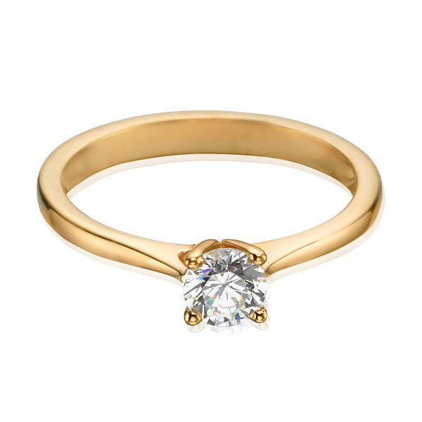 "EC One 0.75ct Diamond ""Nancy"" Solitaire in recycled Yellow Gold Ring"