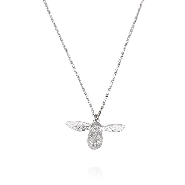 EC One Alex Monroe Baby Bumblebee Silver Necklace
