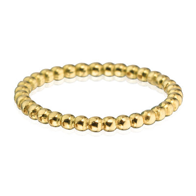 EC一Medium recycled 金  Ball Stacking Ring
