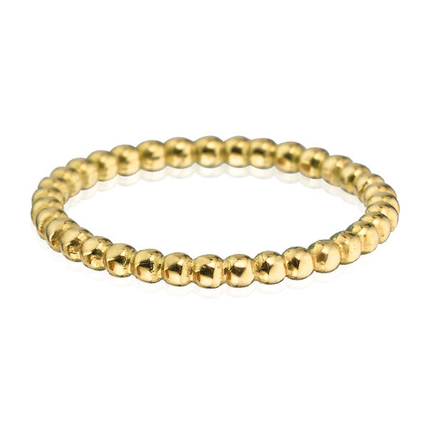 EC One Medium recycled Gold Ball Stacking Ring