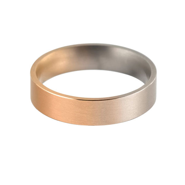 "Red to White Gold ""Aura"" Wedding Ring"