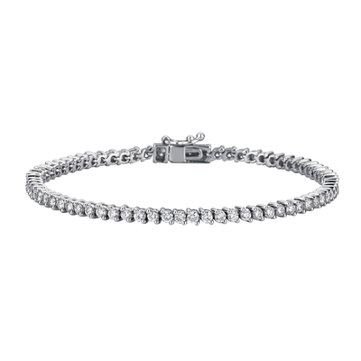 2.69ct Diamond White Gold Tennis Bracelet