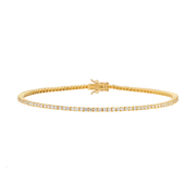 EC One 2.05ct Diamond Yellow Gold Tennis Bracelet