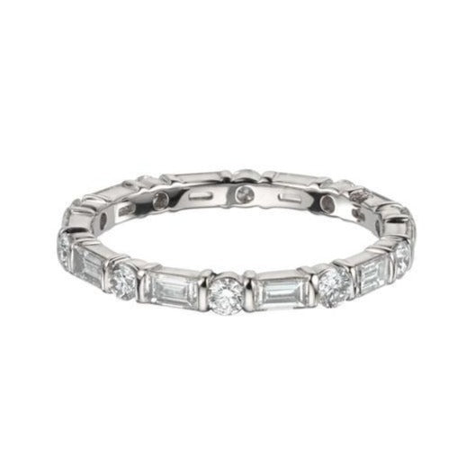 1.20ct Brilliant Baguette Diamond Bar Set Eternity Ring