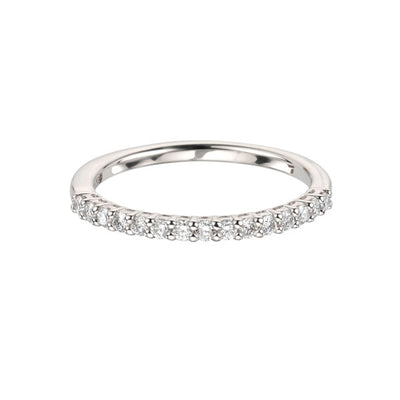 EC One 0.25ct Skinny Claw Set Half Eternity Ring Stacking