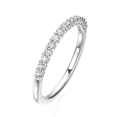 0.25ct Skinny Claw Set Half Eternity Ring