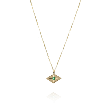 Star Gold Emerald Necklace