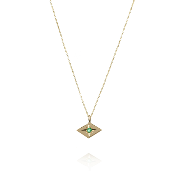 EC One Ellie Air Star Gold Emerald Necklace