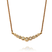 "EC One ""Dainty"" Rose Gold Sherry Diamond Bar Necklace"