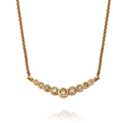 """Dainty"" Rose Gold Sherry Diamond Bar Necklace"
