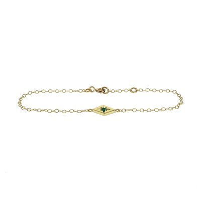 Star Gold Emerald Bracelet