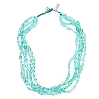 Multi Strand Smooth Apatite Necklace
