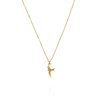 Small Swallow 18ct Gold Necklace