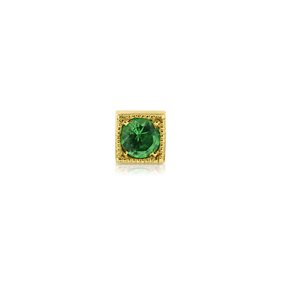 Kaleidoscope Tsavorite Single Stud Gold Earring