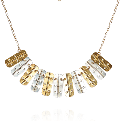 Phoebe Gold Silver Hinge Necklace