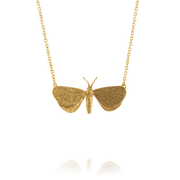 EC One Alex Monroe Drab Looper Moth In-line Gold Plate Necklace