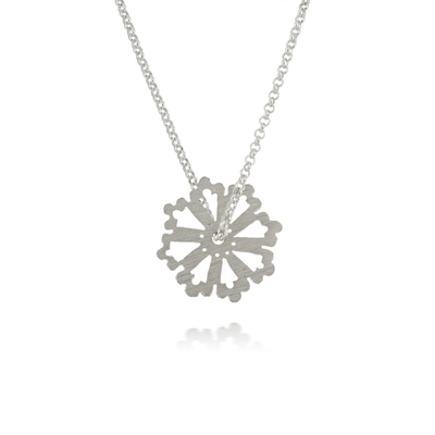 Silver Cut-Out Flower Necklace