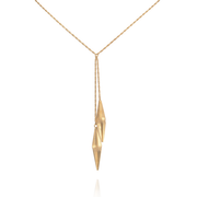 EC One Alice Barnes Shard Double Drop Gold Necklace