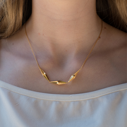 EC One Alice Barnes Triple Shard In-Line Gold Necklace