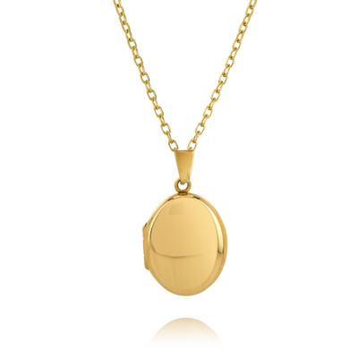 Medium Gold Oval Locket