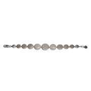 Paillette Graduated Disc Sterling Silver Bracelet