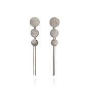Paillette Triple Disc Sterling Silver Drop Earrings