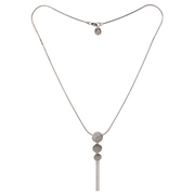 Paillette Triple Disc Sterling Silver Necklace