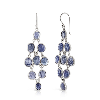 Tanzanite Chandelier Earrings Silver