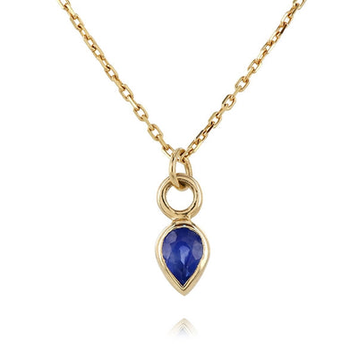 Pear Shaped Sapphire Necklace