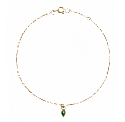 Pear Shaped Emerald Bracelet