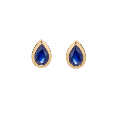 Pear Shaped Sapphire Studs