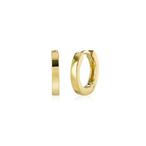Tiny Yellow Gold Hoop Earrings