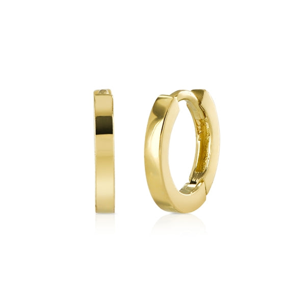 Small Yellow Gold Hoop Earrings