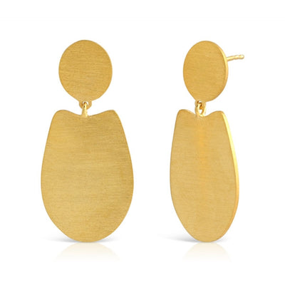 Double Drop Simple Gold Earrings