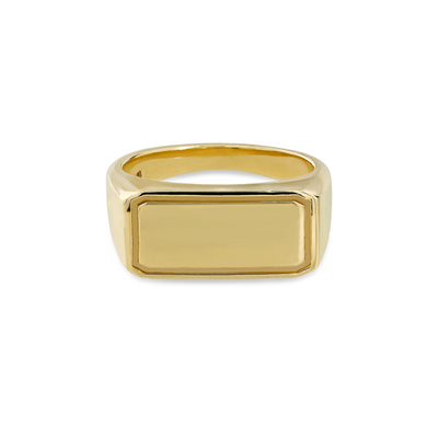 Rectangular Gold Signet Ring