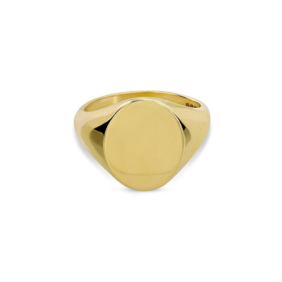 福利彩票查询一Oval recycled 金  Signet Ring