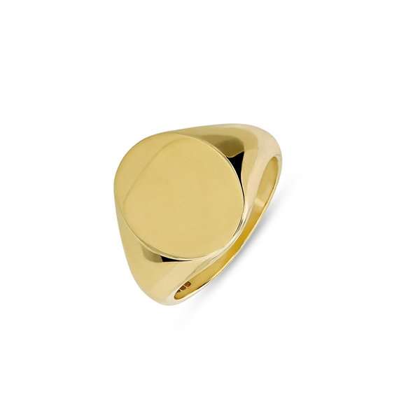 EC One Oval recycled Gold Signet Ring
