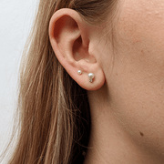 EC One tiny white pearl studs
