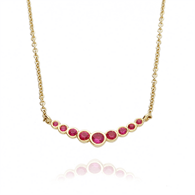 Ruby Dainty Gold Necklace