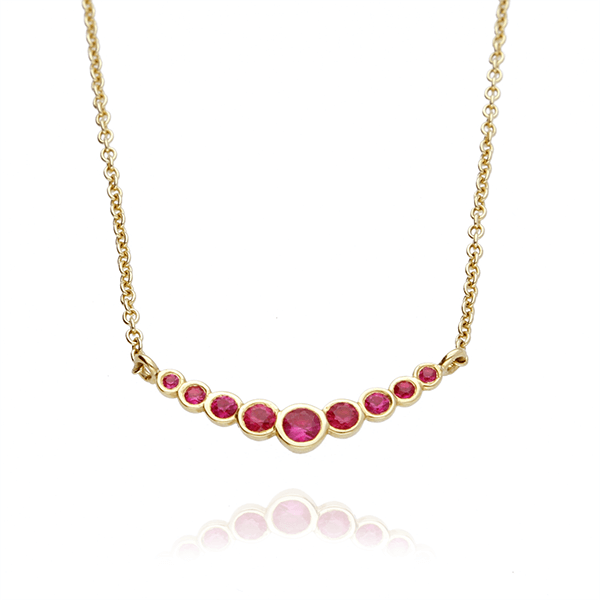 EC One Ruby Dainty Recycled Gold Necklace