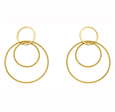 Medium Double Loop Drop Earrings